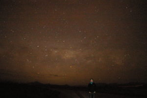 Standing in front of the Milky Way